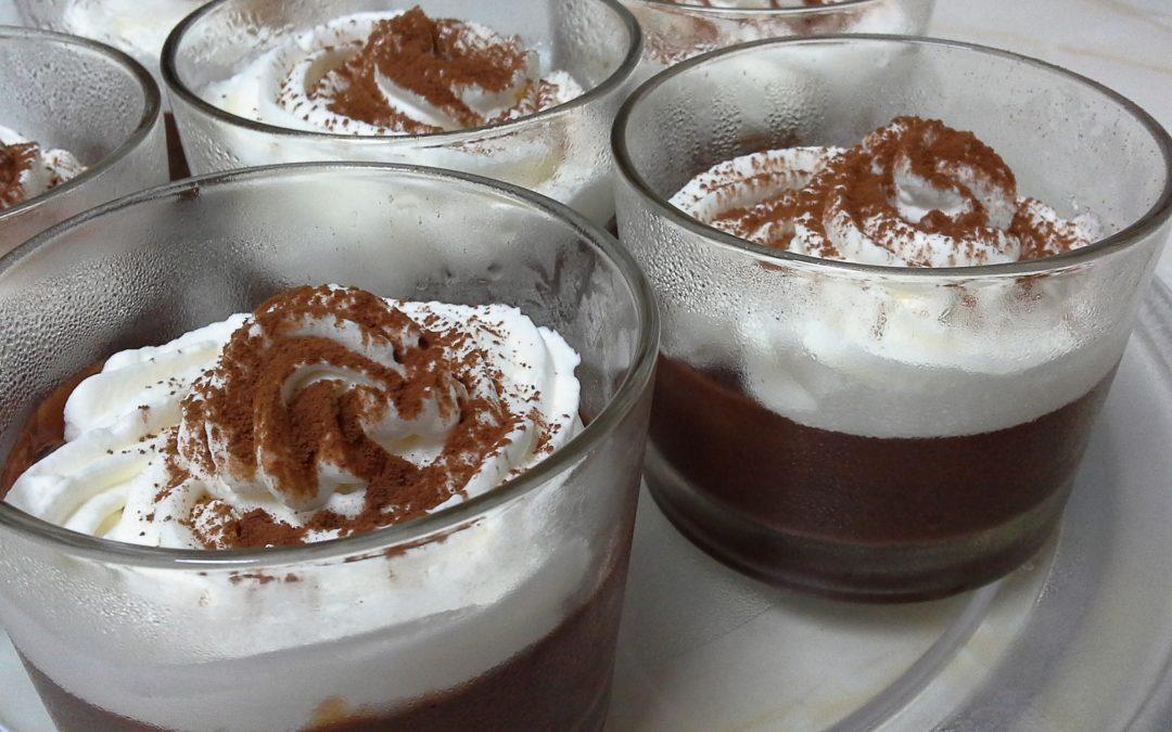Flan De Chocolate con Nata